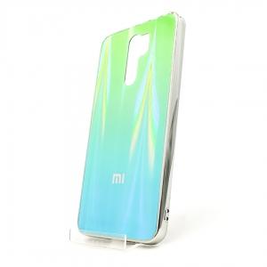 Стеклянный чехол Gradient case XIAOMI Redmi9 aquamarine