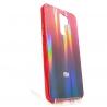 NEW Gradient Glass Case XIAOMI Redmi9 wine-colored
