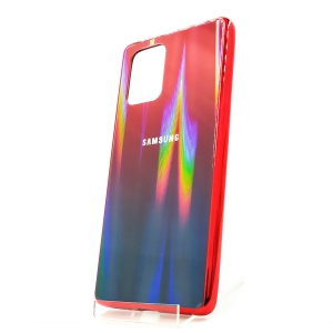 Стеклянный чехол Gradient case Samsung A31 wine-colored