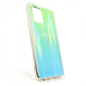 Стеклянный чехол Gradient case Samsung A31 aquamarine