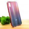 NEW Gradient Glass Case Xiaomi Redmi9a wine-colored