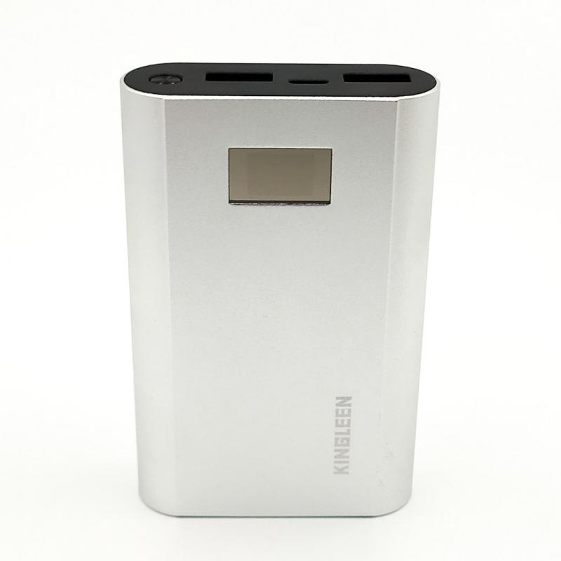 Металлическое портативное зарядное устройство 6000mAh LED-дисплей Power Bank KingLeen 303