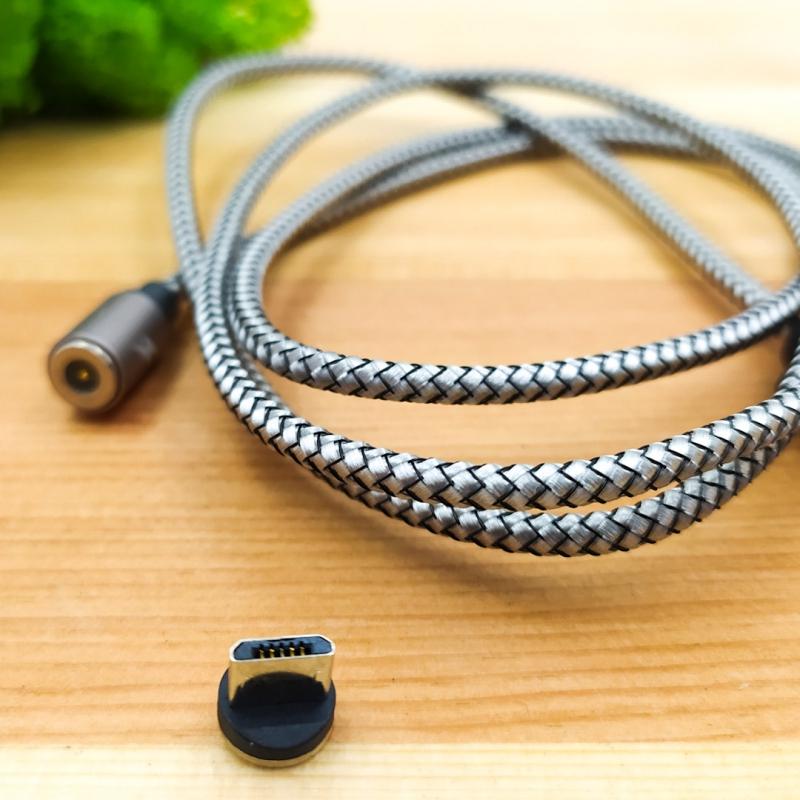 Магнитный USB-Micro USB кабель в тканевой оплетке Remax RC-095m