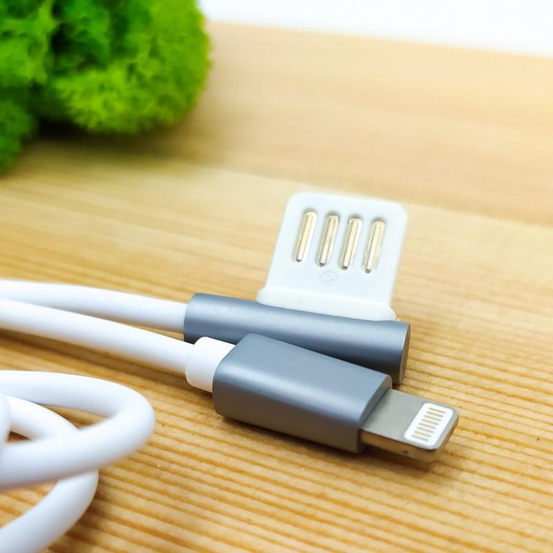 Угловой двусторонний USB кабель Lightning iPhone Remax 054i