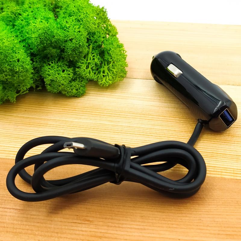 Автомобильное зарядное устройство с Micro USB кабелем EMY 2,1A MY125
