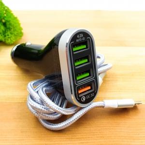 АЗУ LDNIO блок Fast+Charge Qualcomm 2.0 4USB/6A (C701Q)