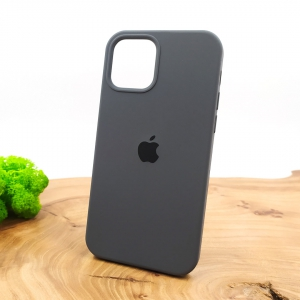 NEW SILICONE CASE IPHONE 12(6.7) Gray