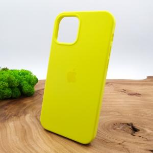 Оригинальный матовый чехол-накладка Silicone CaseIPHONE 12(5.4) Brillianty Yellow