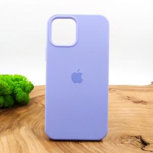 Оригинальный матовый чехол-накладка Silicone Case IPHONE 12(6.7) Light Purple