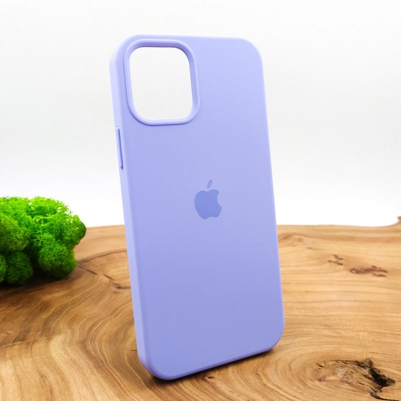 NEW SILICONE CASE IPHONE 12(6.7) Light Purple