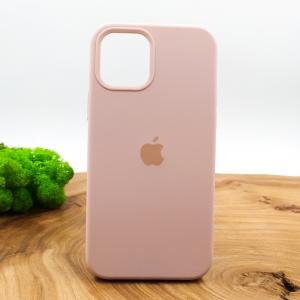 Оригинальный матовый чехол-накладка Silicone Case IPHONE 12(5.4) Matte Pink