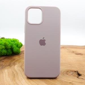 Оригинальный матовый чехол-накладка Silicone Case IPHONE 12(6.7) Soft Purple