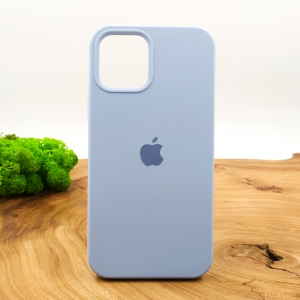 Оригинальный матовый чехол-накладка Silicone Case IPHONE 12(5.4) Blue Agate