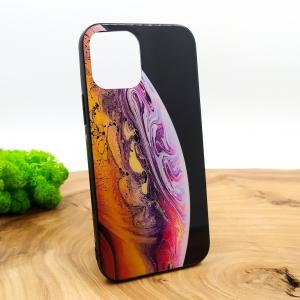 NEW MOLAN PLANETS GLASS CASE Iphone 12 Mini (5.4) Orange