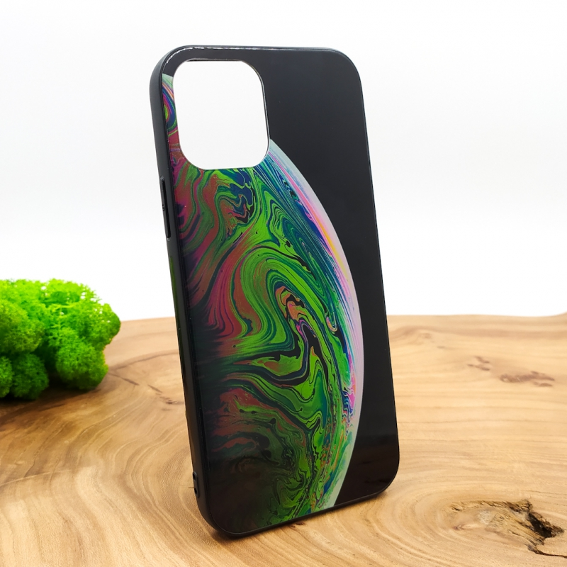 NEW MOLAN PLANETS GLASS CASE Iphone 12 Mini (5.4) Green
