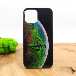 Люминесцентный светящийся чехол-накладка с планетой MOLAN PLANETS Iphone 12 Mini (5.4) Green