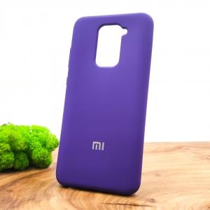 Оригинальный матовый чехол-накладка Silicone Case Xiaomi Redmi Note9 Purple