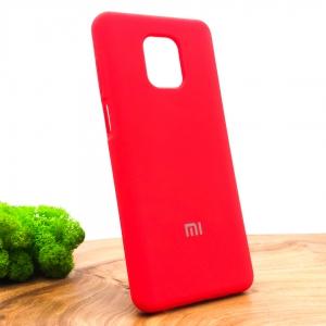 Оригинальный матовый чехол-накладка Silicone Case Xiaomi Redmi Note9s/Pro Red