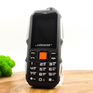Кнопочный мобильный телефон LGRAVER Q1 (2021) Black