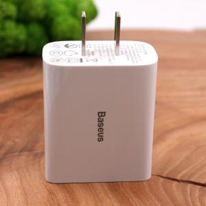 Сетевое зарядное устройство 2USB/18W QC3.0 Baseus ccfs-q01