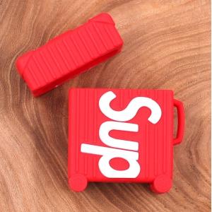 Ударопрочный силиконовый чехол для Apple AirPods Supreme suitcase Red