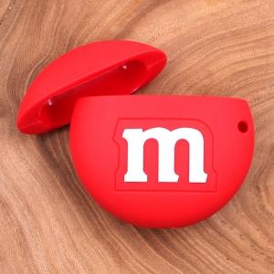 Ударопрочный силиконовый чехол для Apple AirPods M&M`s Red