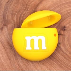 Ударопрочный силиконовый чехол для Apple AirPods M&M`s Yellow