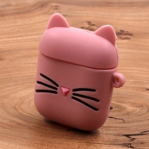 Ударопрочный силиконовый чехол для Apple AirPods Toy Cat Pink