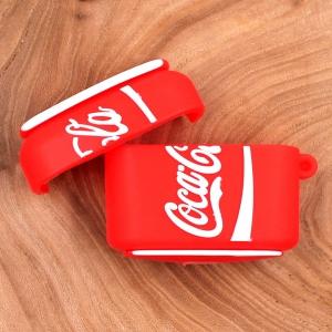 Ударопрочный силиконовый чехол для Apple AirPods Pro Rubber Coca-Cola