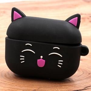 Ударопрочный силиконовый чехол для Apple AirPods Pro Toy Cat Black