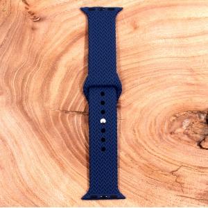 Универсальный силиконовый ремешок для фитнес браслета Apple Watch Braided Navy Storm 38/40mm