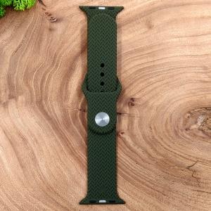 Универсальный силиконовый ремешок для Apple Watch Braided Khaki 42/44mm