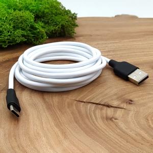 Сверхпрочный силиконовый USB кабель HOCO X21 Type-C 2m White