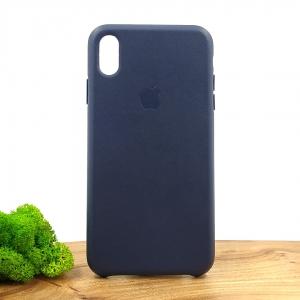 Оригинальный кожаный чехол-накладка Molan Leather Case for Apple iPhone XS Max Blue
