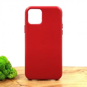Оригинальный кожаный чехол-накладка Molan Leather Case for Apple iPhone 11 Pro Red