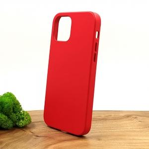 Оригинальный кожаный чехол-накладка Molan Leather Case for Apple iPhone 12 Pro Red