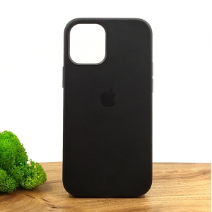 Оригинальный кожаный чехол-накладка Molan Leather Case for Apple iPhone 12 Mini Black