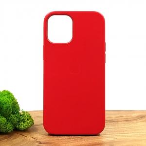Оригинальный кожаный чехол-накладка Molan Leather Case for Apple iPhone 12 Mini Red