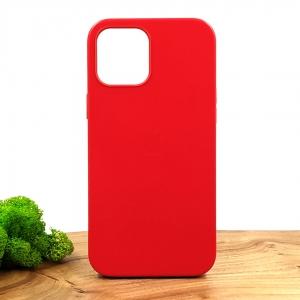 Оригинальный кожаный чехол-накладка Molan Leather Case for Apple iPhone 12 Pro Max Red