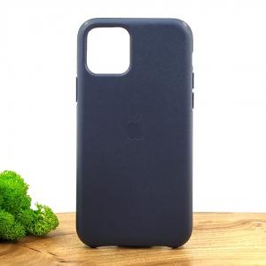 Оригинальный кожаный чехол-накладка Molan Leather Case for Apple iPhone 11 Pro Blue