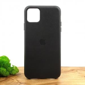 Оригинальный кожаный чехол-накладка Molan Leather Case for Apple iPhone 11 Pro max Black