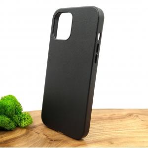 Оригинальный кожаный чехол-накладка Molan Leather Case for Apple iPhone 12 Pro Max Black