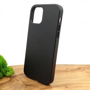 Оригинальный кожаный чехол-накладка Molan Leather Case for Apple iPhone 12 Pro Black