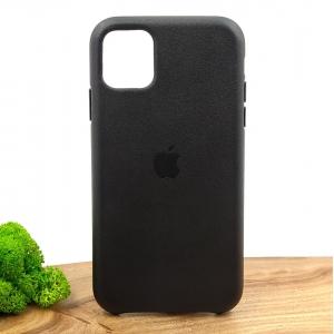 Оригинальный кожаный чехол-накладка Molan Leather Case for Apple iPhone 11 Black
