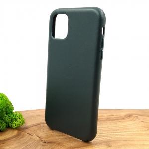 Оригинальный кожаный чехол-накладка Molan Leather Case for Apple iPhone 11 Pine green