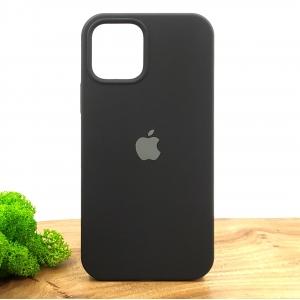 Оригинальный матовый чехол-накладка Silicone Case IPHONE 12(6.1) Black