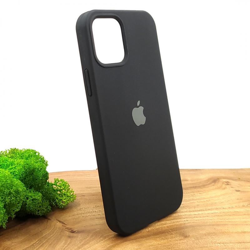 NEW SILICONE CASE IPHONE 12(6.1) Black
