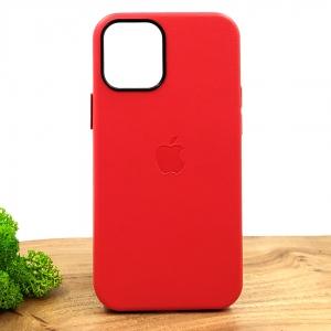 Оригинальный кожаный чехол-накладка Molan Leather Case для IPHONE 12(5.4) Red