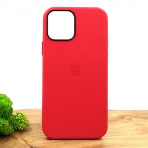 Оригинальный кожаный чехол-накладка Molan Leather Case для IPHONE 12(6.1) Red