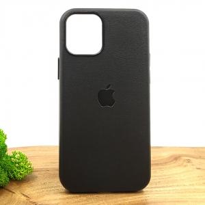Оригинальный кожаный чехол-накладка Molan Leather Case для IPHONE 12(5.4) Black